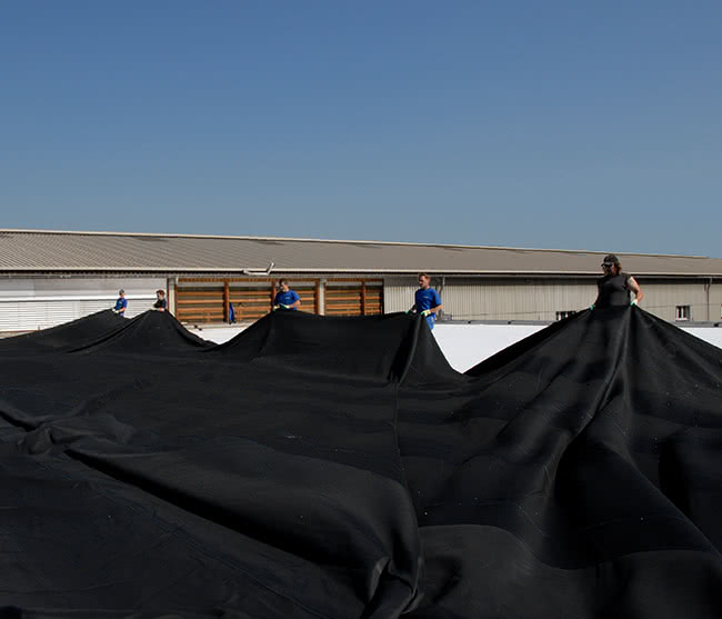 EPDM verlegen - hot bonding