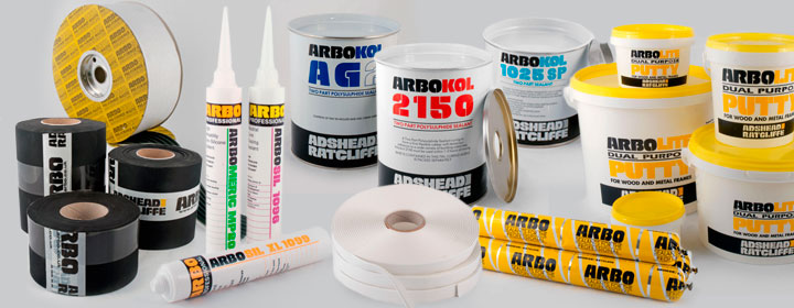 Selection of ARBO sealant and EPDM products